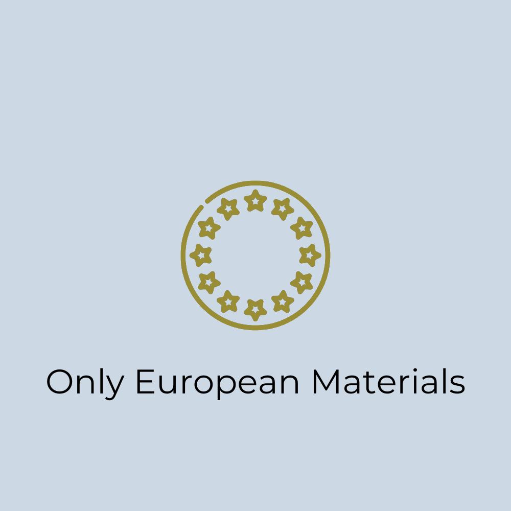 EU Icon: Wir verwenden nur Materialien, die aus der EU kommen