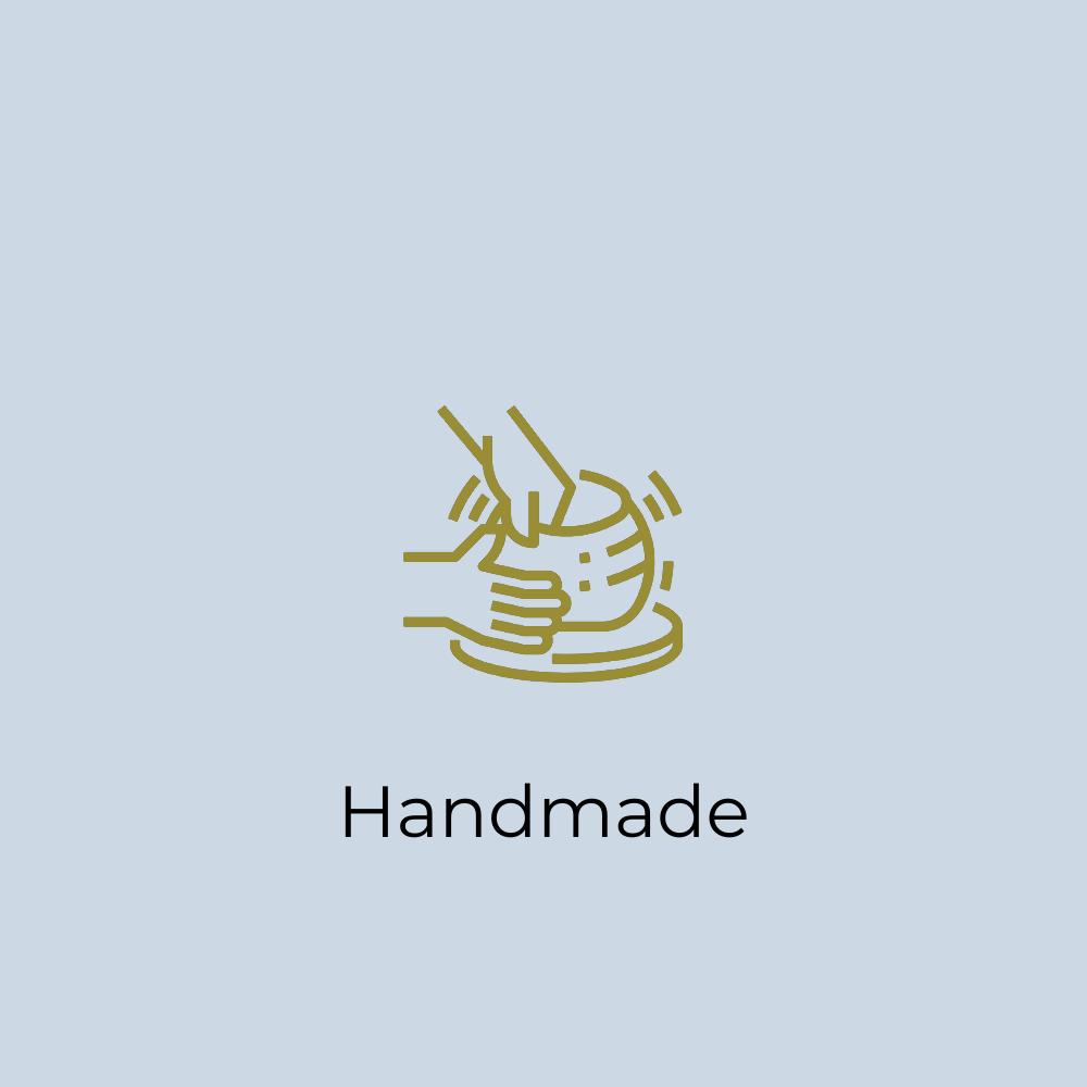 Handgemacht Icon: Wir fertigen jedes unserer Produkte von Hand an